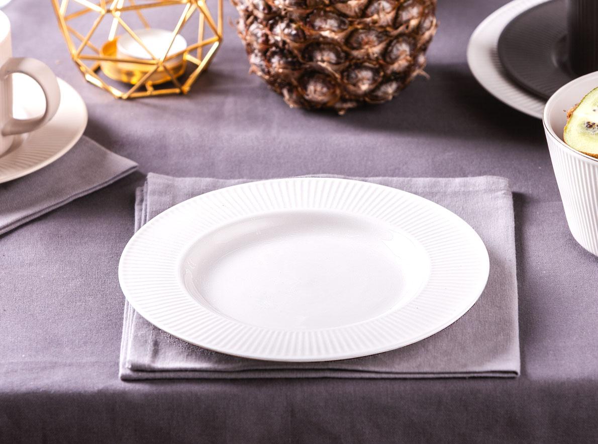 Talerz deserowy porcelanowy Altom Design Urban White 20 cm