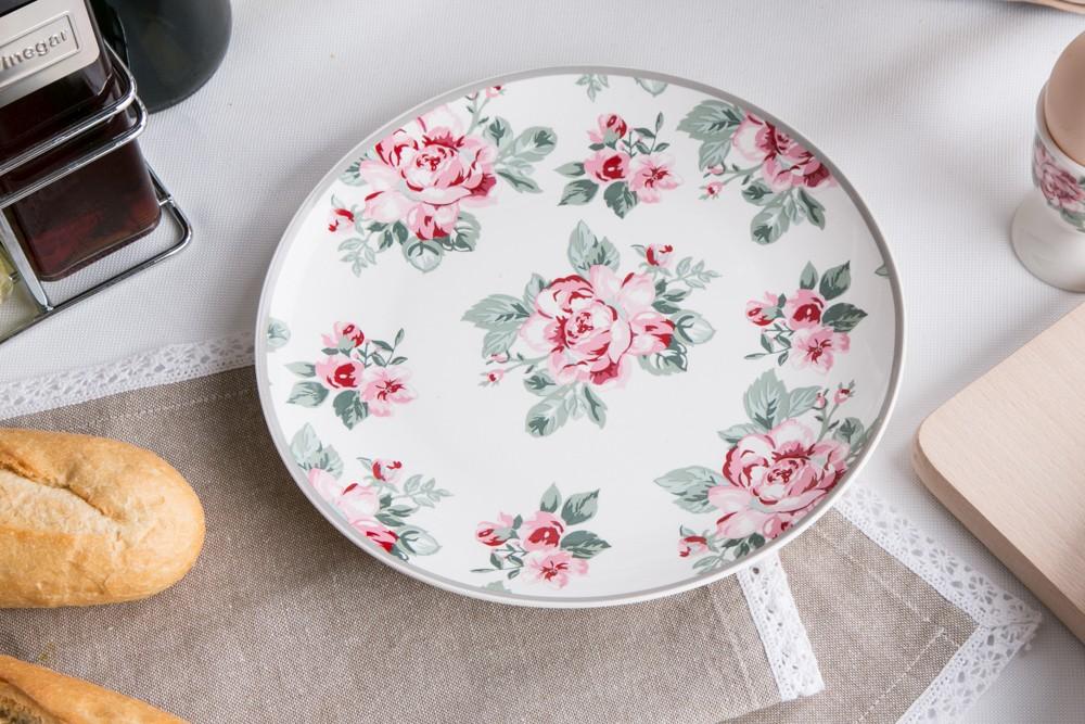 Talerz deserowy porcelanowy Altom Design Róża Paryska 20 cm dek. I