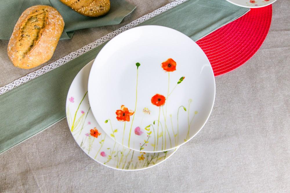 Talerz deserowy porcelanowy Altom Design Maki 20 cm dek. I