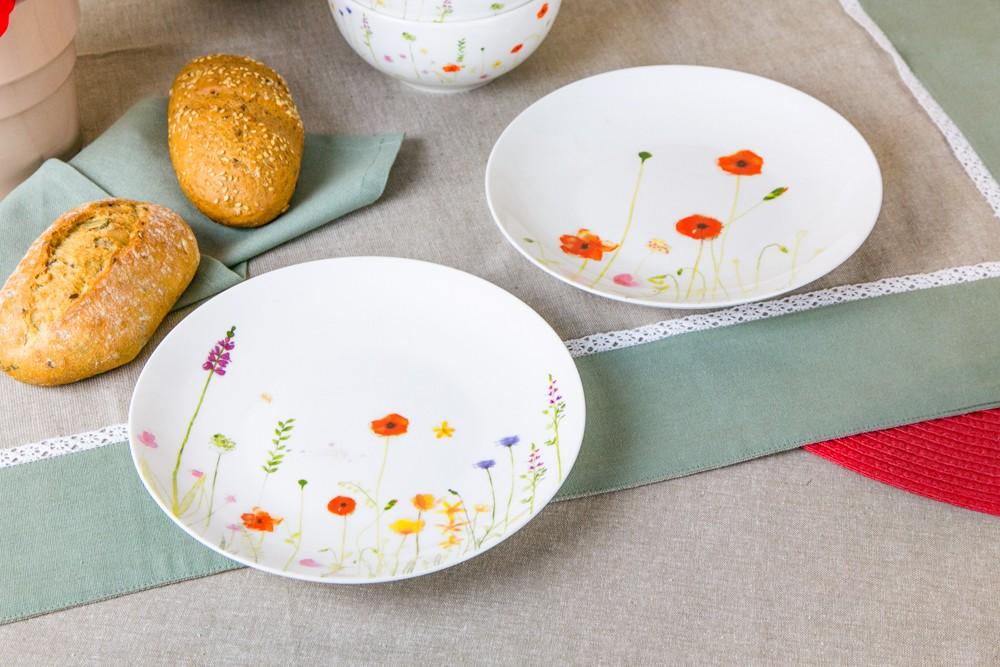 Talerz deserowy porcelanowy Altom Design Maki 20 cm dek. II