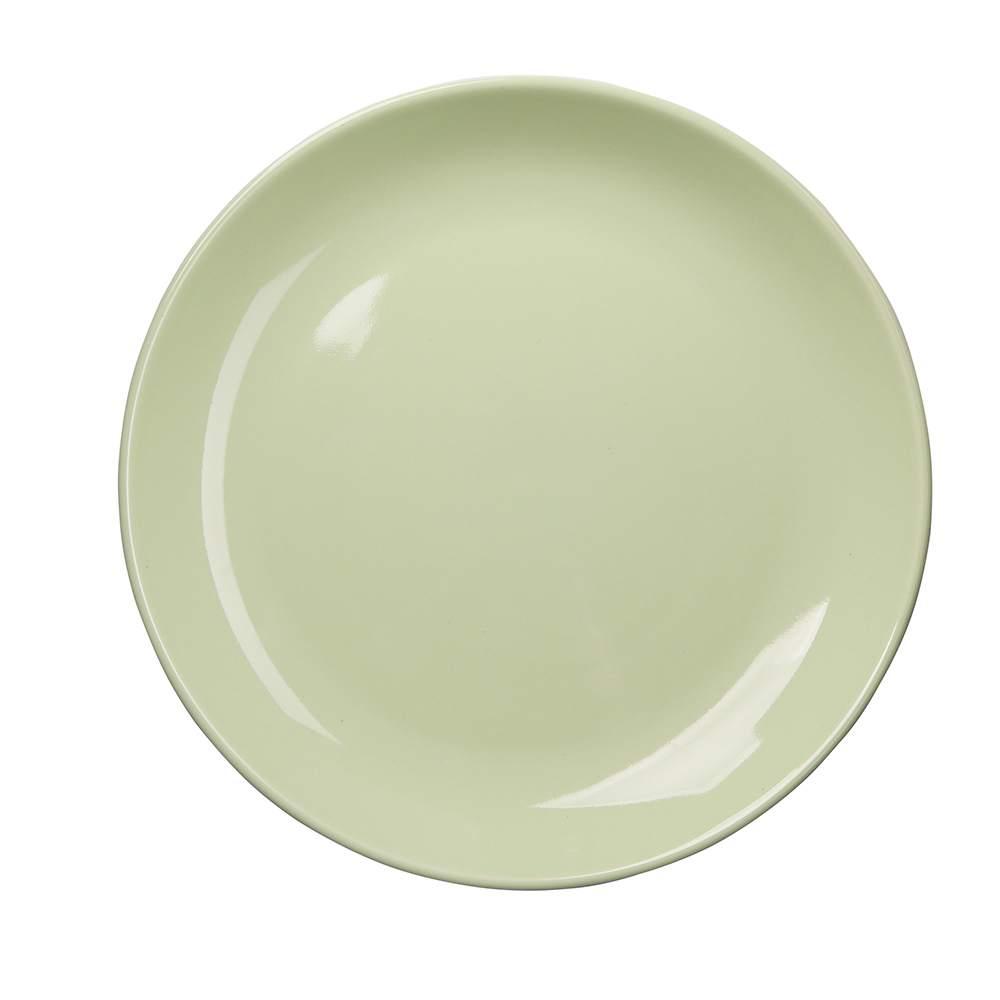 Talerz deserowy porcelanowy Altom Design Monokolor Seledynowy 19 cm