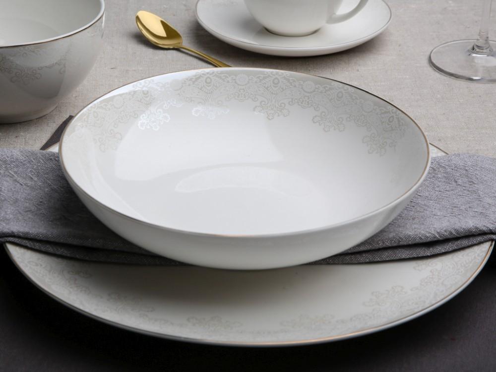 Talerz do zupy głęboki porcelanowy Altom Design Bella Lace 20 cm