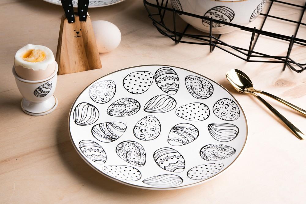 Talerz deserowy porcelanowy święta Wielkanoc Altom Design Modern 20 cm