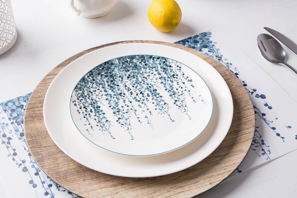 Talerz deserowy porcelanowy Altom Design Konfetti 20 cm wzór A