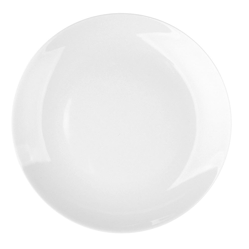 Talerz płytki / obiadowy porcelana MariaPaula Moderna Biała 24 cm okrągły