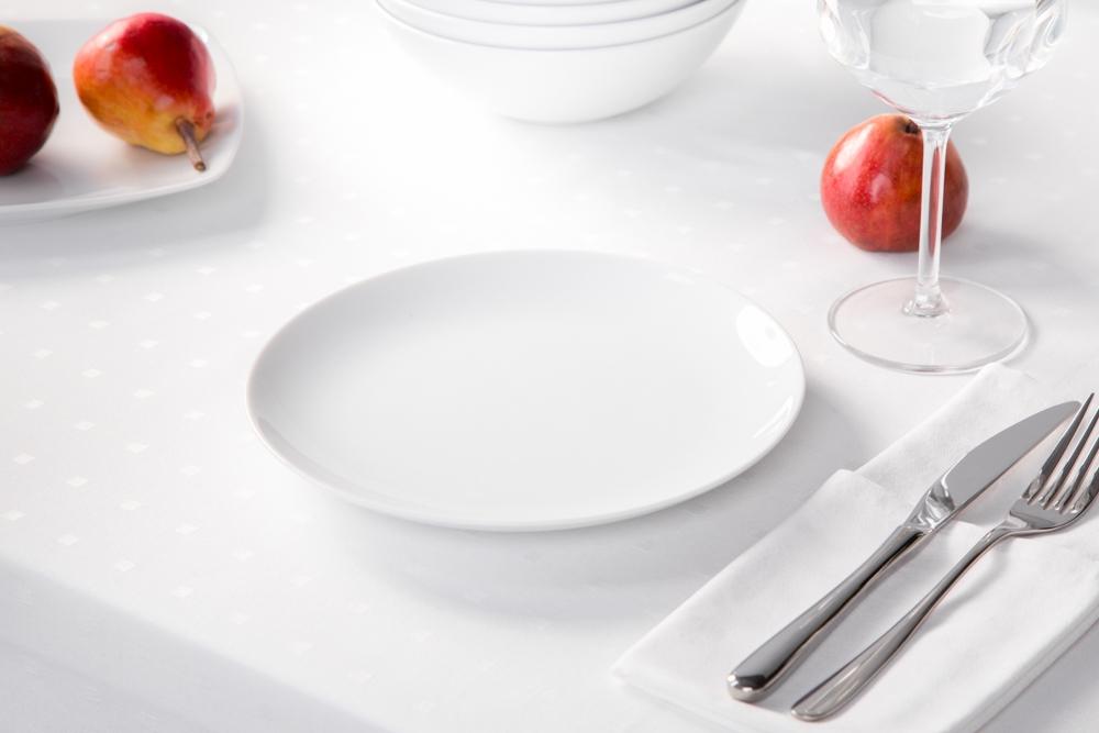 Talerz deserowy porcelana MariaPaula Moderna Biała 20,5 cm okrągły