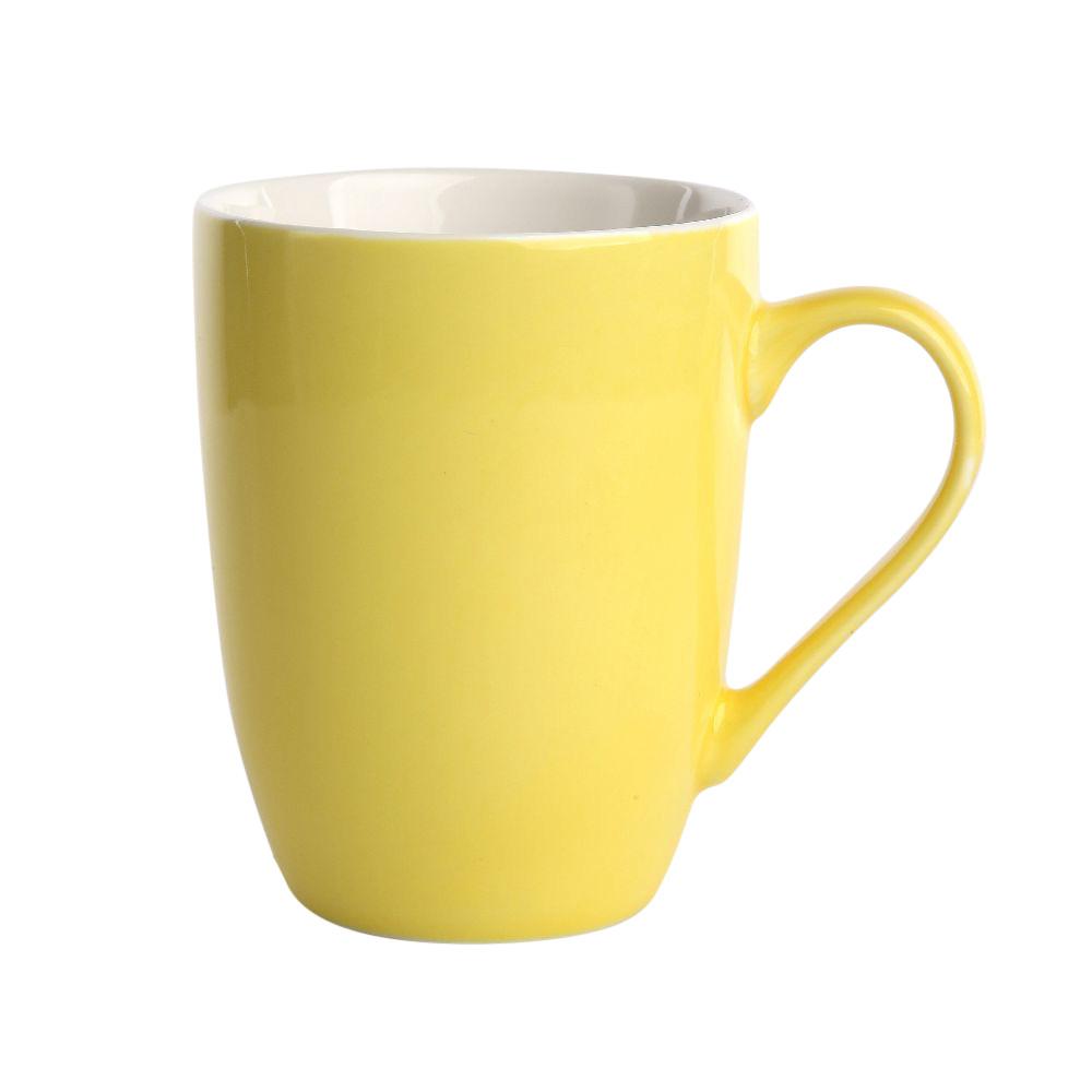 Kubek porcelanowy Altom Design Monokolor Żółty 300 ml