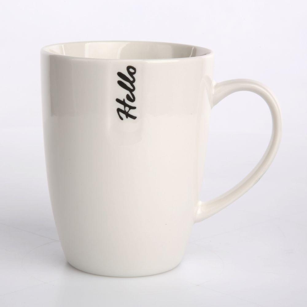 Kubek porcelanowy z tłoczeniem Altom Design Hello 300 ml