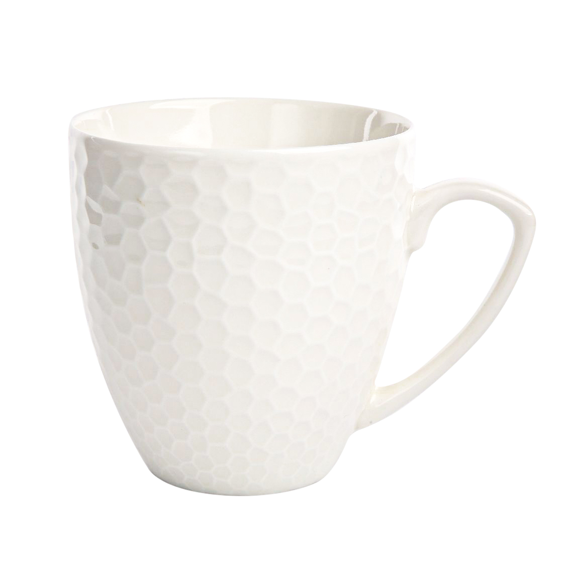 Kubek porcelanowy duży w plastry miodu Altom Design Honey 430 ml