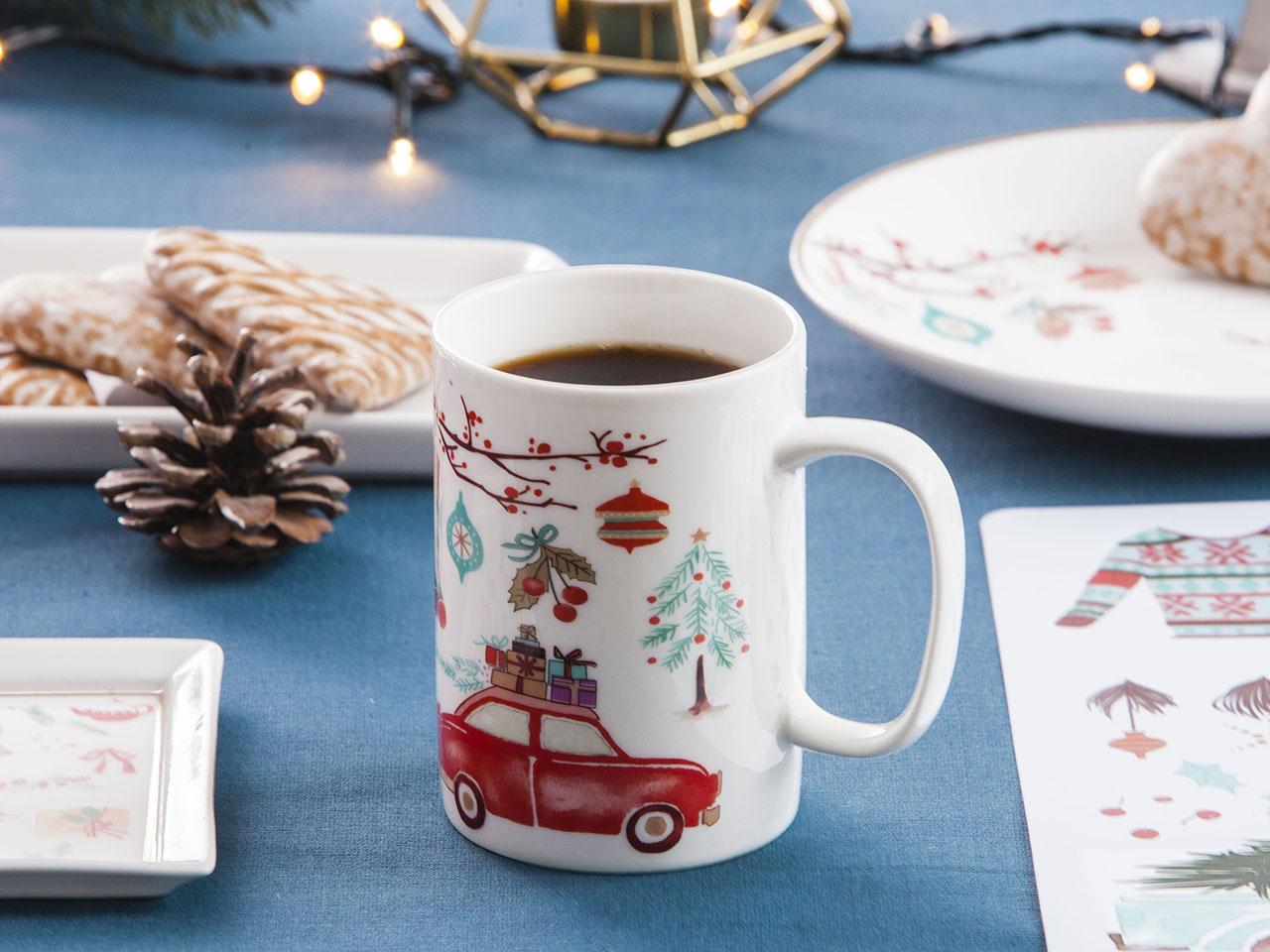 Kubek świąteczny do kawy i herbaty Boże Narodzenie Altom Design Magia Północy 350 ml (4 wzory)