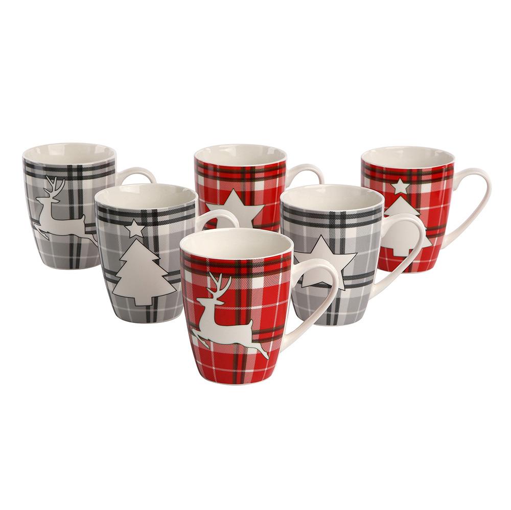 Kubek świąteczny do kawy i herbaty porcelanowy Boże Narodzenie Altom Design 300 ml (6 wzorów)