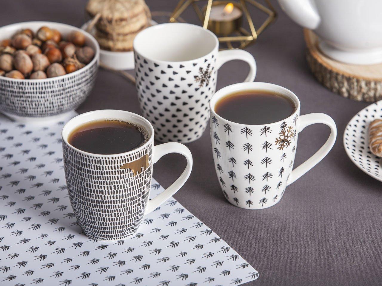 Kubek do kawy i herbaty święta Boże Narodzenie Altom Design Nordic Winter 340 ml (3 wzory)