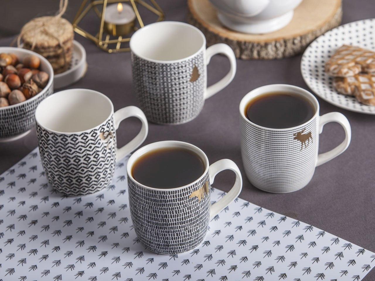 Kubek do kawy i herbaty porcelanowy święta Boże Narodzenie Altom Design Nordic Winter 360 ml (4 wzory)