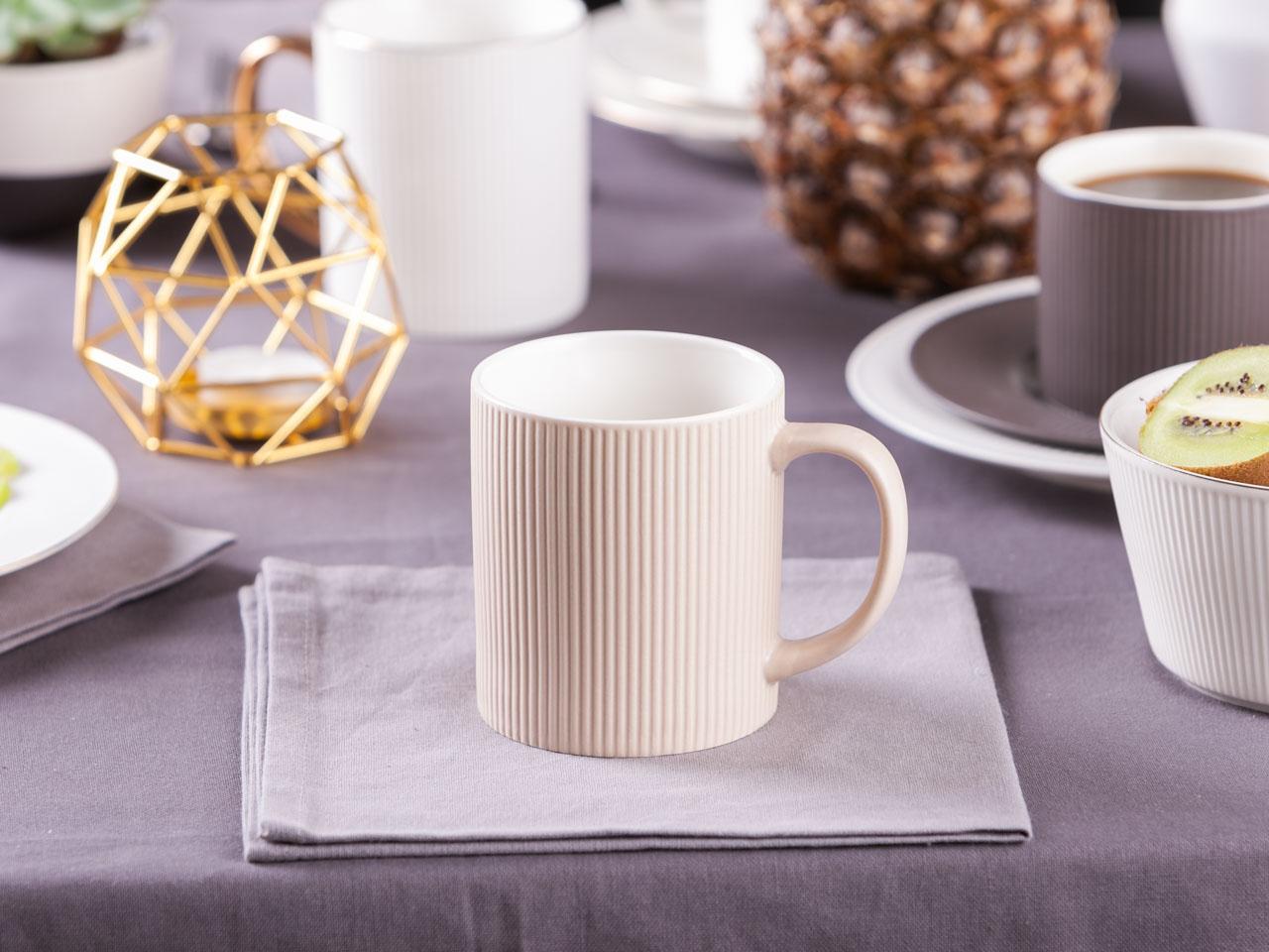Kubek do kawy i herbaty porcelanowy Altom Design Urban Sand 320 ml