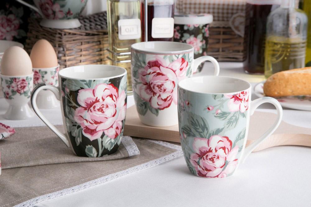 Kubek do kawy i herbaty porcelanowy Altom Design Róża Paryska 320 ml dek. II