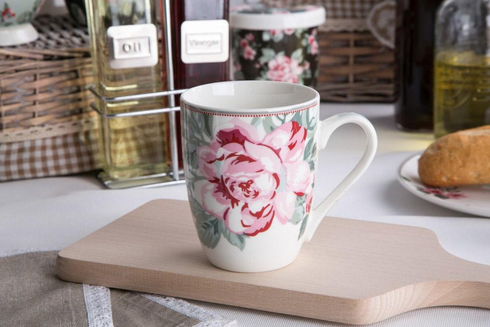 Kubek do kawy i herbaty porcelanowy Altom Design Róża Paryska 320 ml dek. III