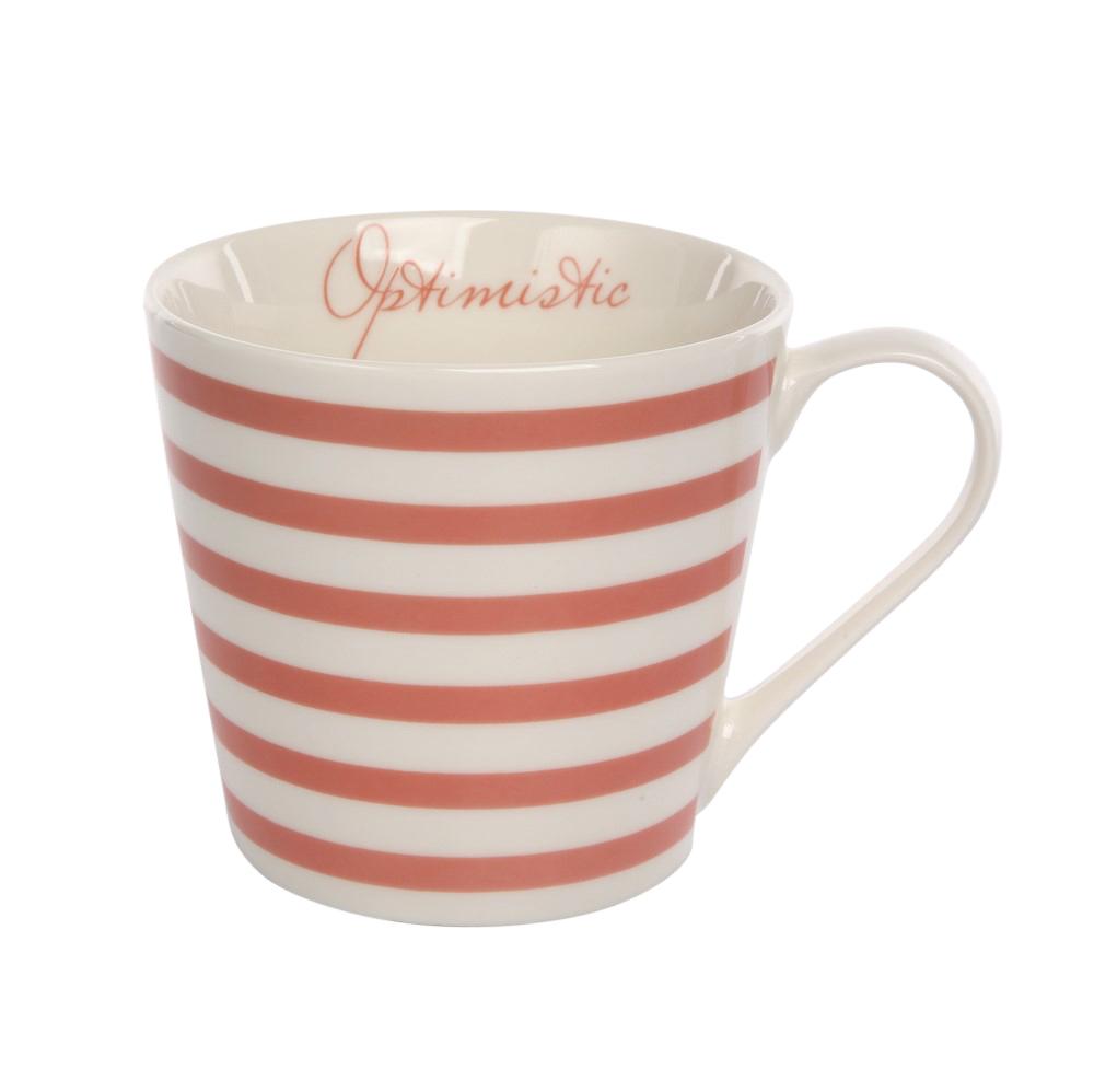 Kubek do kawy i herbaty porcelanowy Altom Design Melania koralowy 360 ml