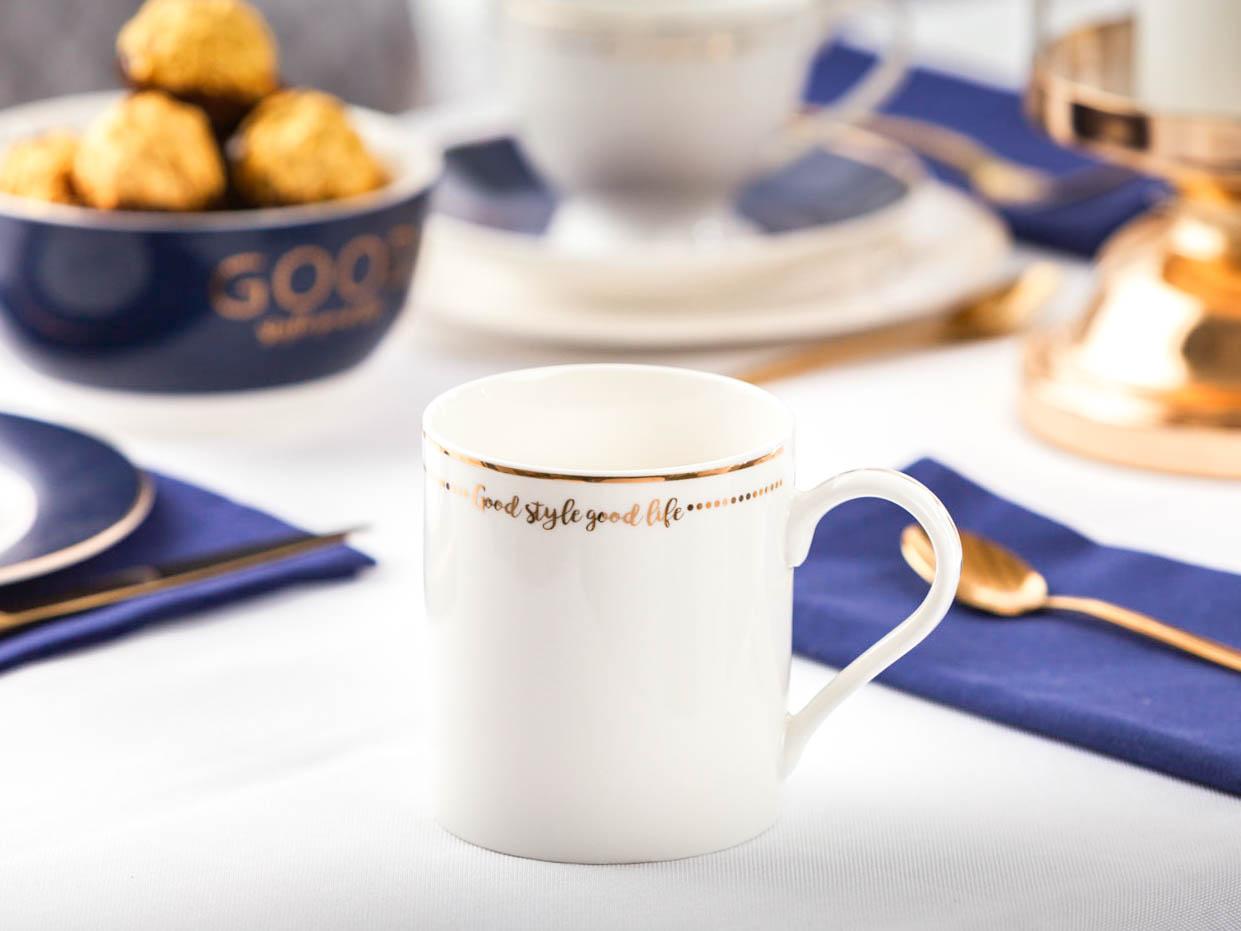 Kubek do kawy i herbaty porcelanowy Altom Design Good Life 300 ml Biały