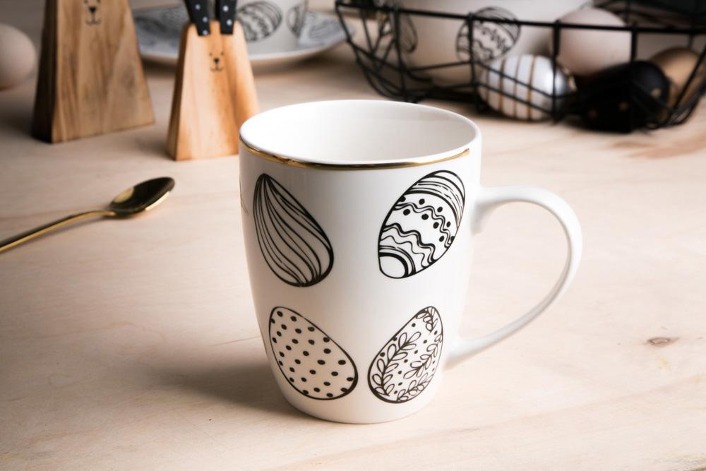 Kubek do kawy i herbaty porcelanowy święta Wielkanoc Altom Design Modern 340 ml