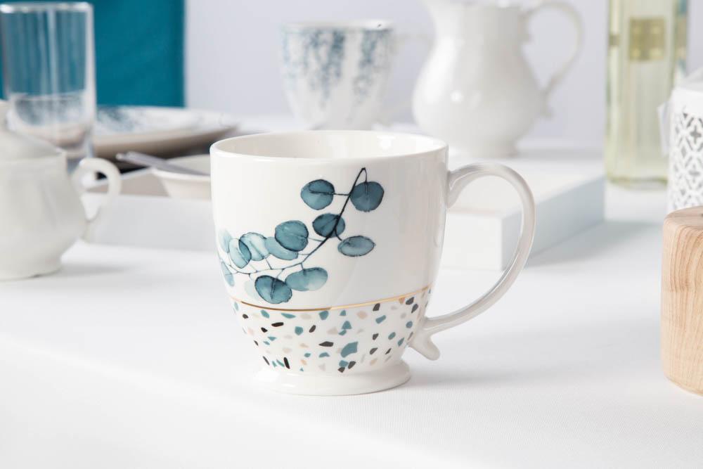 Kubek porcelanowy jumbo Altom Design Konfetti 480 ml wzór B