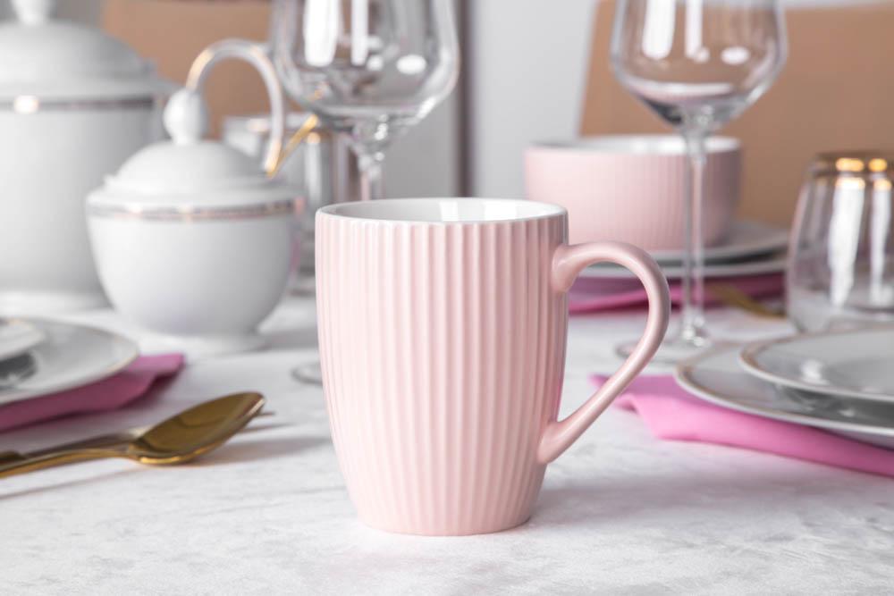 Kubek porcelanowy Altom Design Ballerina 300 ml różowy