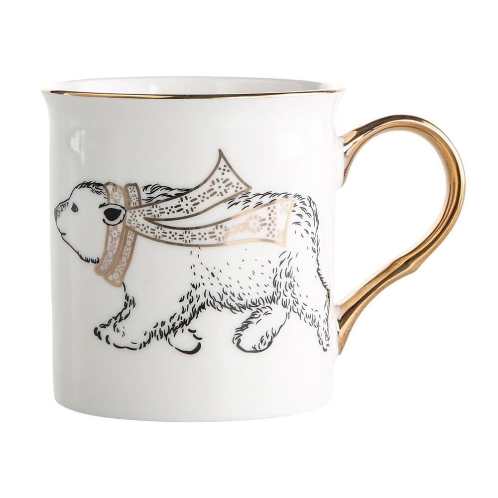 Kubek porcelanowy święta Boże Narodzenie Altom Design Nordic Forest Złote Ucho Miś 300 ml