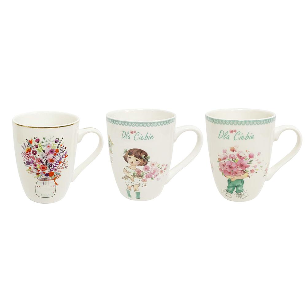 Flowers for you barrel mug NBC 300 ml mix 3 dec.