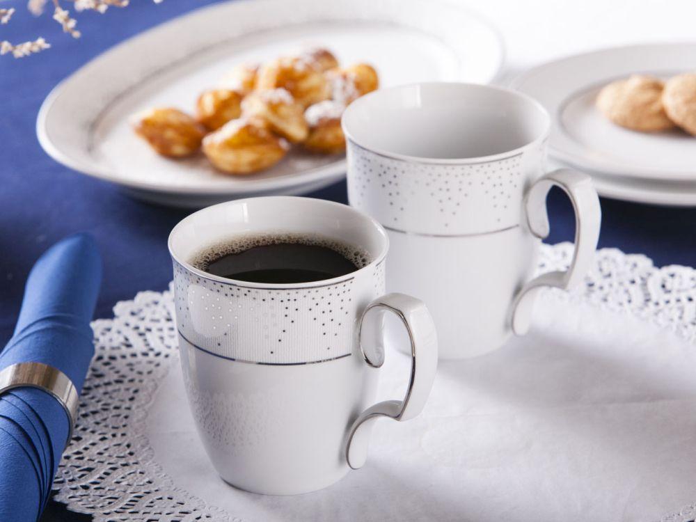 Zestaw 2 kubków porcelana MariaPaula Snow, gift box