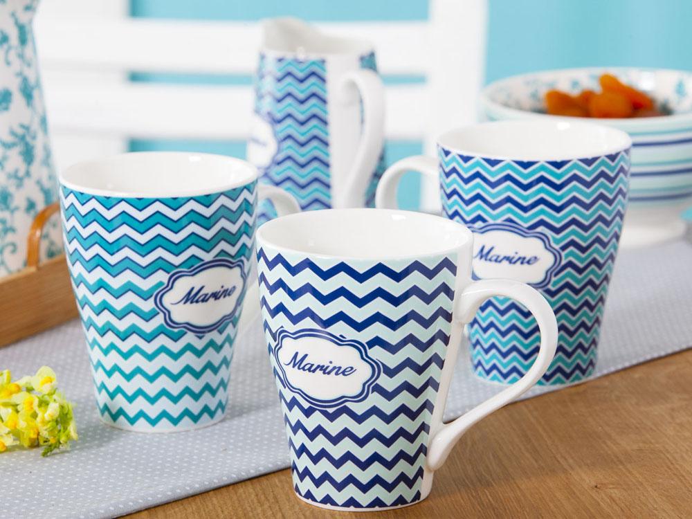 Kubek do kawy i herbaty porcelanowy Altom Design Marine 330 ml (12 sztuk)