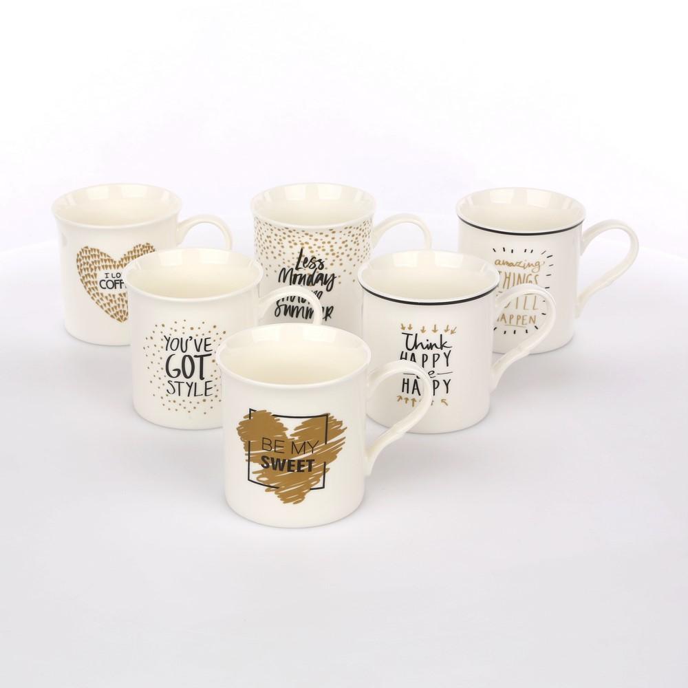 Kubek porcelanowy Altom Design Happy 300 ml (6 wzorów)
