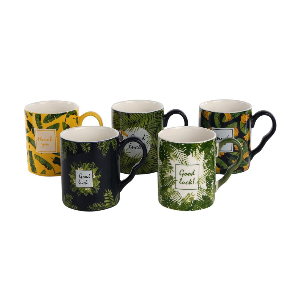 Kubek porcelanowy Altom Design, dekoracja Dżungla 350 ml