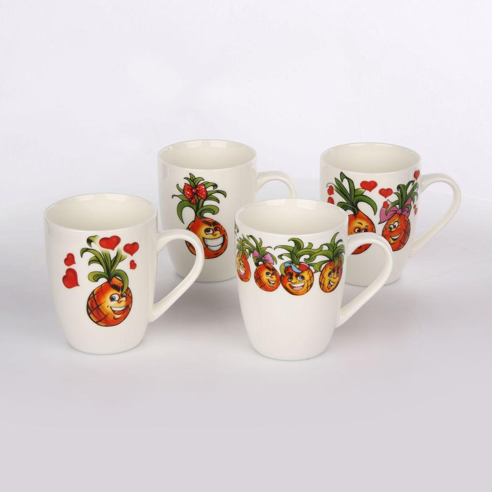 Kubek porcelanowy Altom Design Owocowe Buźki 300 ml 12 sztuk