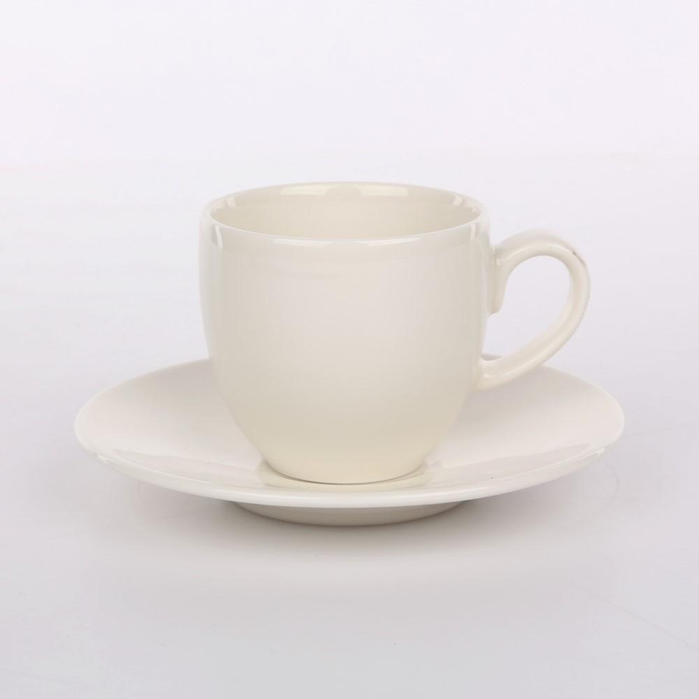 Filiżanka do espresso ze spodkiem porcelana Karolina Spring 100 ml / 10,5 cm
