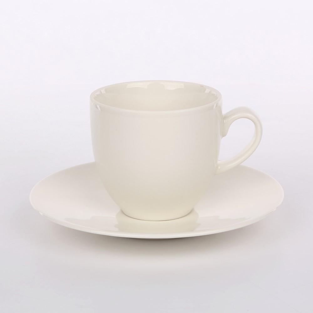 Filiżanka do kawy ze spodkiem porcelana Karolina Spring 200 ml + 14,5 cm