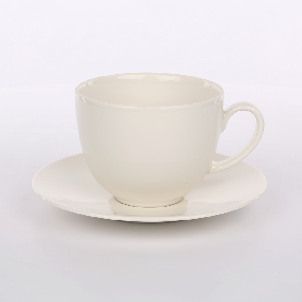 Filiżanka do kawy / herbaty porcelana Karolina Spring 400 ml + 16 cm