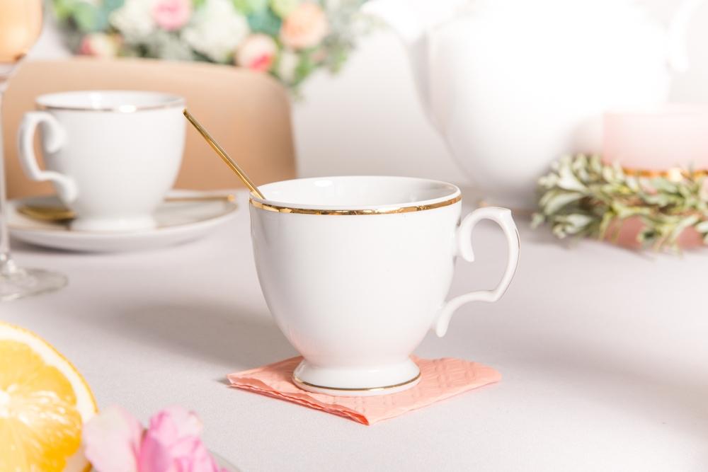 Filiżanka do kawy porcelana MariaPaula Złota Linia 220 ml