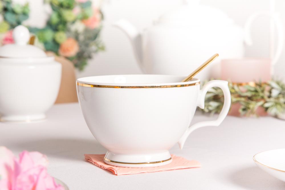 Filiżanka śniadaniowa porcelana MariaPaula Złota Linia 350 ml