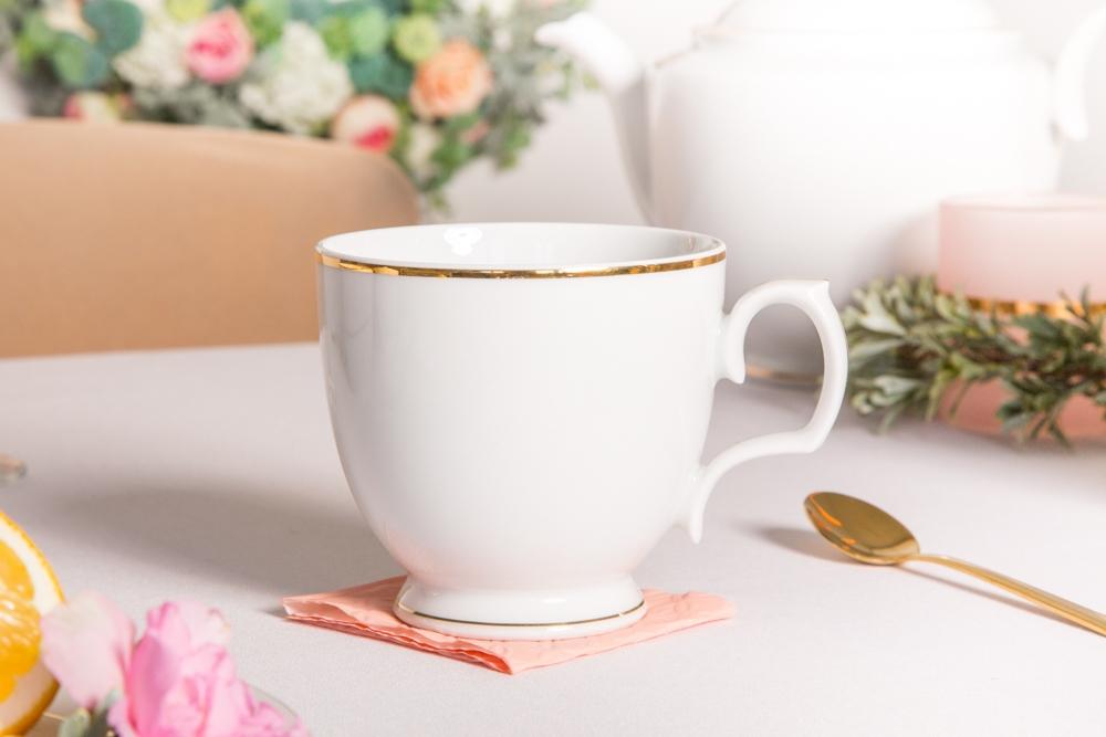 Filiżanka do cappuccino porcelana MariaPaula Złota Linia 350 ml