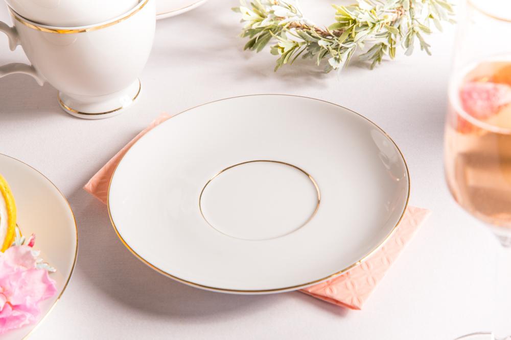 Spodek porcelana MariaPaula Złota Linia 17cm