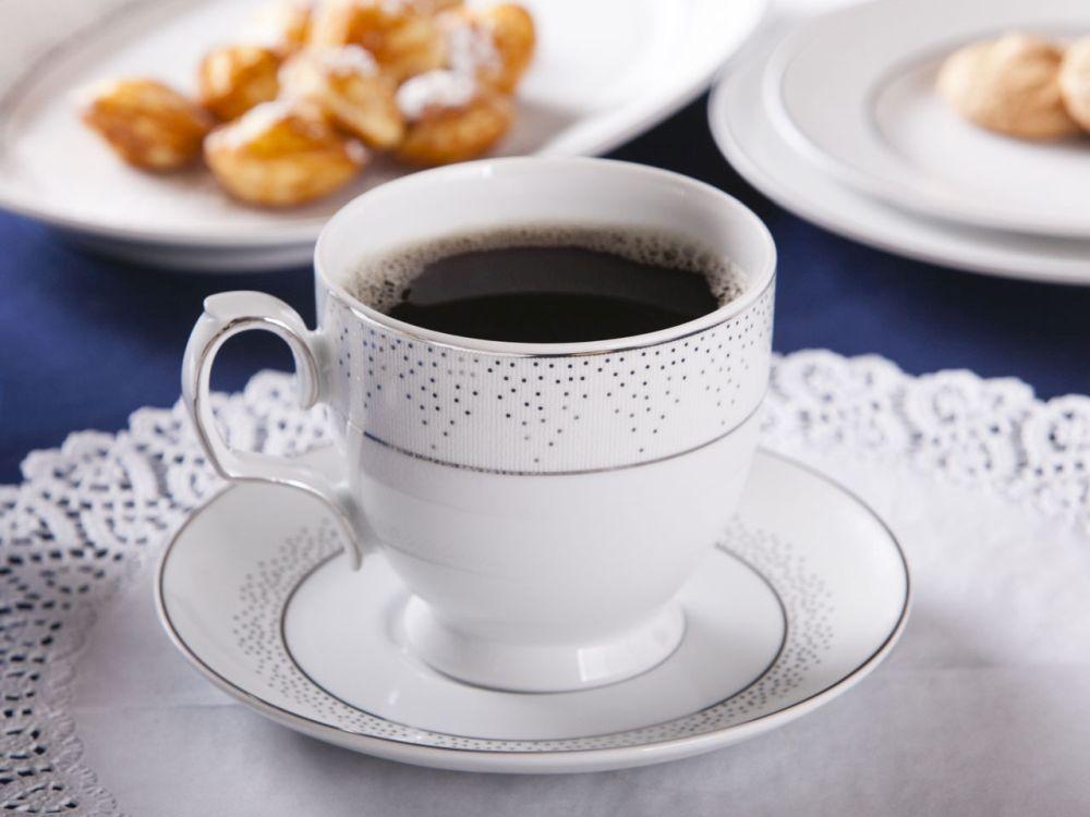 Filiżanka do cappuccino ze spodkiem porcelana MariaPaula Snow
