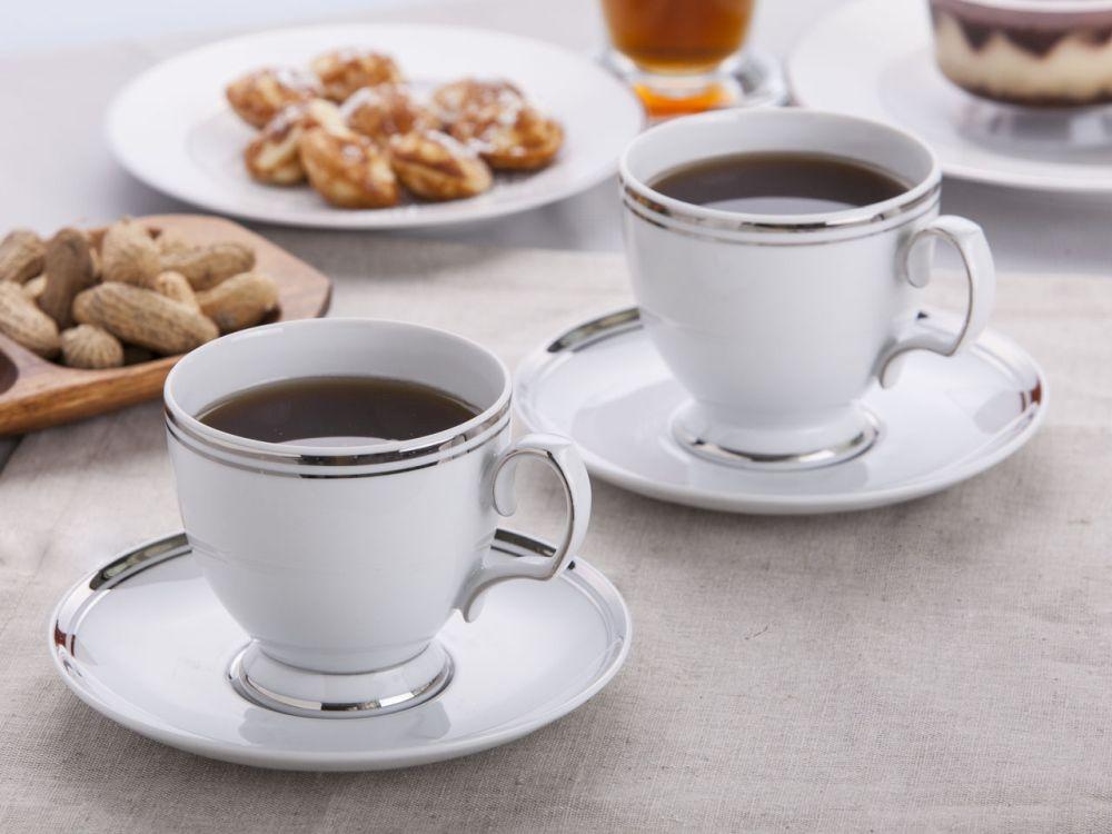 Komplet filiżanek do kawy porcelana MariaPaula Platynowa Linia, zestaw 2 szt.