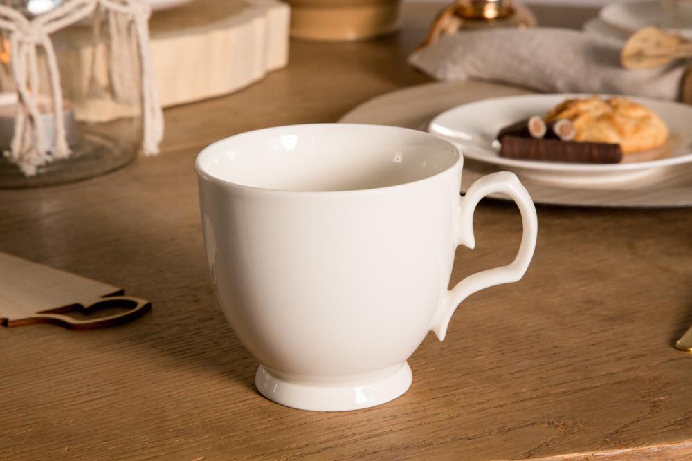 Filiżanka do cappuccino porcelanowa MariaPaula Ecru 350 ml
