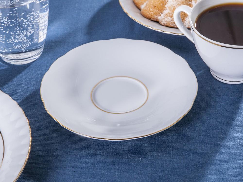 Spodek porcelanowy Ćmielów Feston Złota linia 15 cm