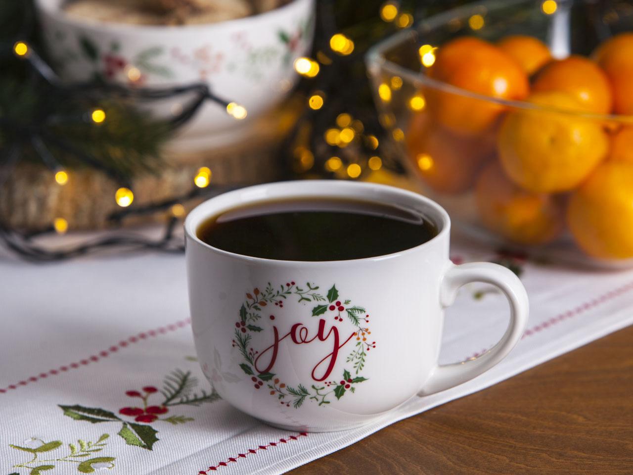 Duża filiżanka do kawy i herbaty świąteczna porcelanowa Jumbo Boże Narodzenie Altom Design Joy 420 ml