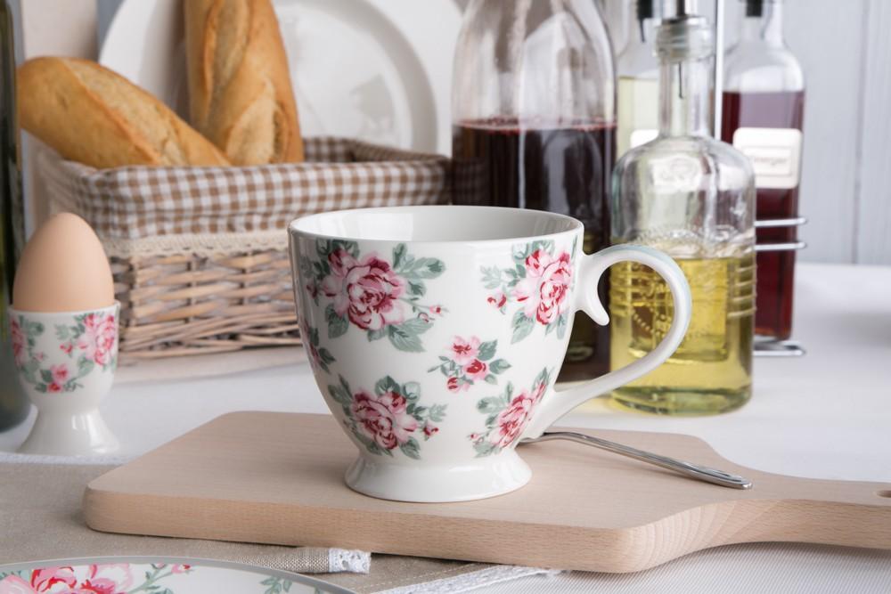 Duża filiżanka do kawy i herbaty porcelanowa Jumbo Altom Design Róża Paryska 420 ml dek. I