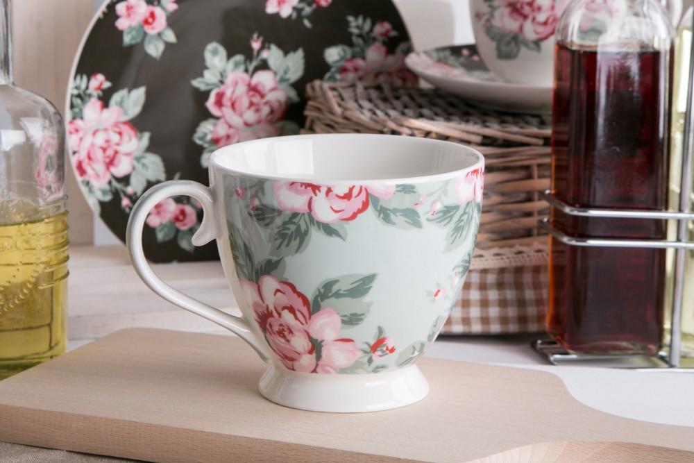 Duża filiżanka do kawy i herbaty porcelanowa Jumbo Altom Design Róża Paryska 420 ml dek. II
