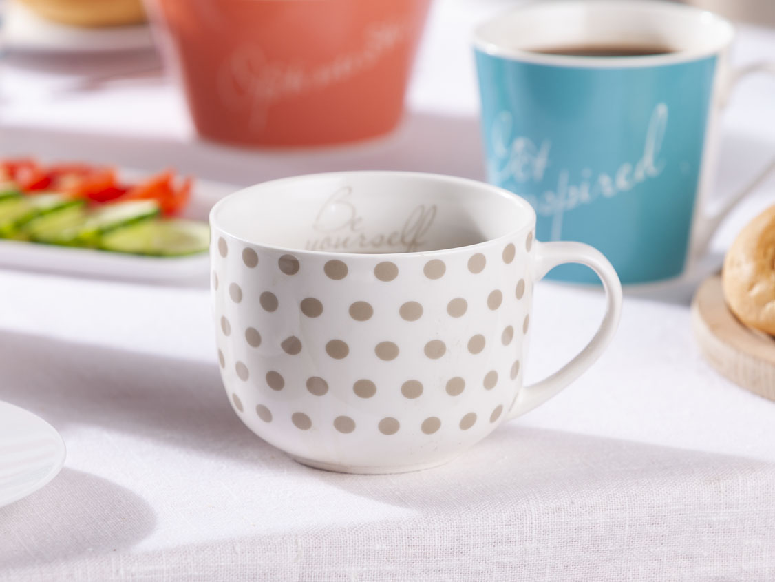 Melania cup 470ml taupe