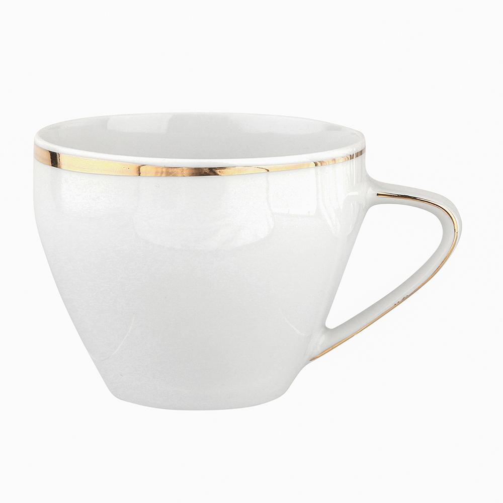 Filiżanka do cappuccino porcelana MariaPaula Moderna Gold 350 ml ze złotym zdobieniem
