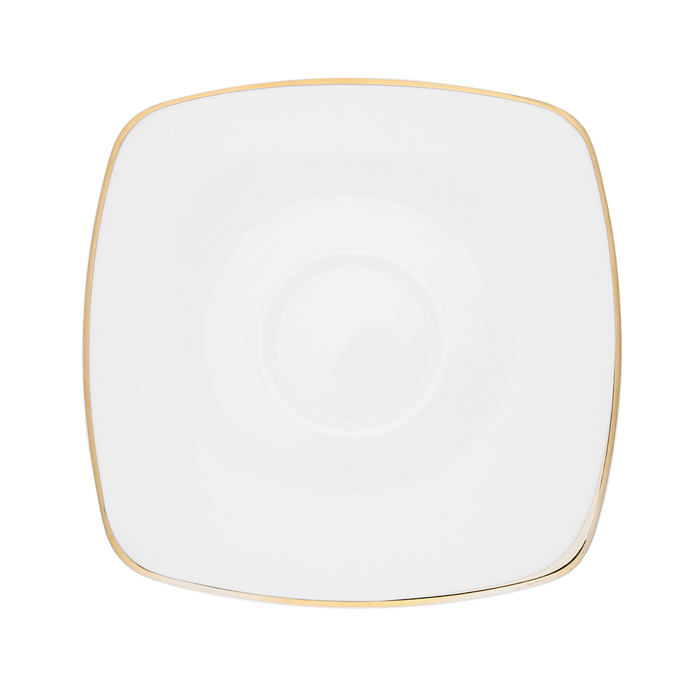 Spodek porcelana MariaPaula Moderna Gold 16 cm ze złotym zdobieniem kwadratowy