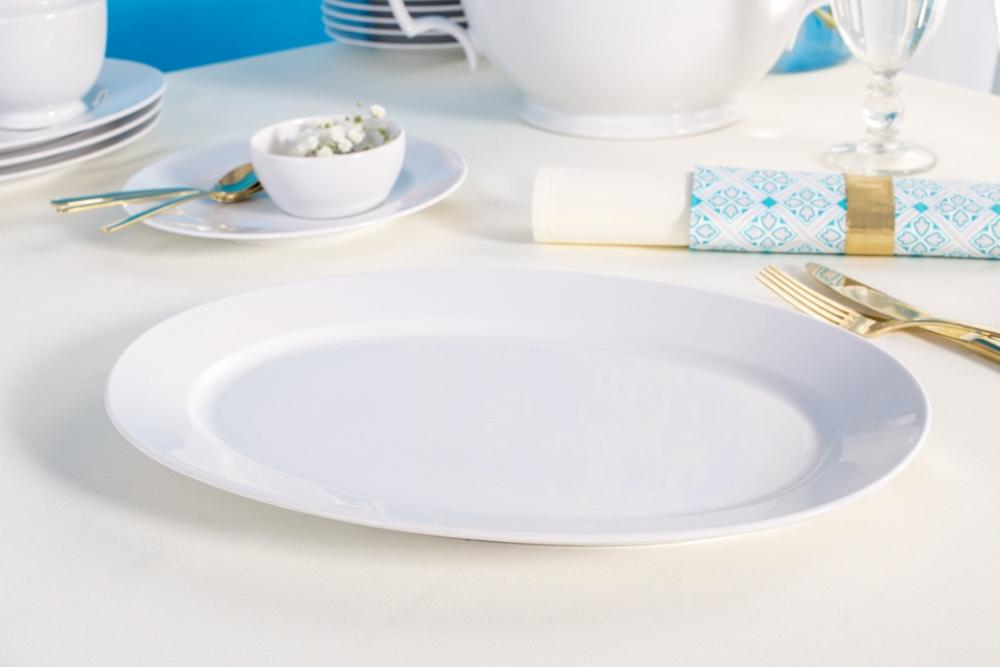 MariaPaula Biała oval disch 33cm
